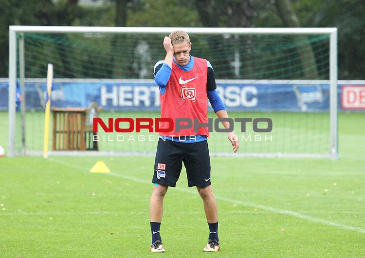 03.09.2013, Sportpark, Berlin, GER, 1.FBL, Hertha BSC , Training, im Bild Johannes van den Bergh (Hertha BSC Berlin)<br /> <br />               <br /> Foto &copy; nph /  Schulz