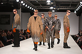 Collection by Alexandra Henkes of Istituto Marangoni. Graduate Fashion Week 2014, Runway Show at the Old Truman Brewery in London, United Kingdom. Photo credit: Bettina Strenske