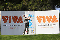 Cormac Sharvin (NIR) on the 6th tee during Round 1 of the Challenge Tour Grand Final 2019 at Club de Golf Alcanada, Port d'Alcúdia, Mallorca, Spain on Thursday 7th November 2019.<br /> Picture:  Thos Caffrey / Golffile<br /> <br /> All photo usage must carry mandatory copyright credit (© Golffile | Thos Caffrey)