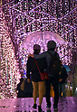Christmas lights switched on at Tokyo's Shinjuku Terrace City