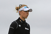 Nelly Korda (USA) on the 5th tee during Round 3 of the Ricoh Women's British Open at Royal Lytham &amp; St. Annes on Saturday 4th August 2018.<br /> Picture:  Thos Caffrey / Golffile<br /> <br /> All photo usage must carry mandatory copyright credit (&copy; Golffile | Thos Caffrey)