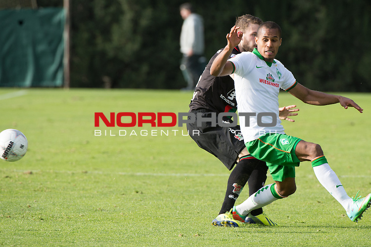 Trainingsgel&auml;nde, Jerez, ESP, 1.FBL, FSP  Werder Bremen (GER)  vs NEC Nijmegen (NED),  12.01.2014, <br /> <br /> Theodor Gebre Selassie (Bremen #23)<br /> <br /> <br /> Foto &copy; nordphoto/ Kokenge