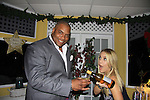 OLTL Sean Ringgold and General Hospital Kristen Alderson bartend at SoapFest's Celebrity Weekend - Celebrity Karaoke Bar Bash - autographs, photos, live auction raising money for kids on November 10, 2012 at Bistro Soleil at Old Historic Marco  Island, Florida. (Photo by Sue Coflin/Max Photos)