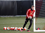 Simon Moore of Sheffield Utd during a training session at the Steelphalt Academy, Sheffield. Picture date: 5th March 2020. Picture credit should read: Simon Bellis/Sportimage