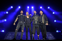 LONDON, ENGLAND - FEBRUARY 7: Keith Duffy, Ronan Keating, Shane Lynch and Mikey Graham of 'Boyzone' performing at the O2 Arena on February 7, 2019 as part of their 'Thank You &amp; Goodnight' Farewell Tour in London, England.<br /> CAP/MAR<br /> &copy;MAR/Capital Pictures