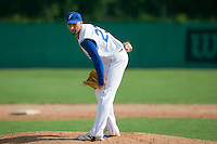 BASEBALL - GREEN ROLLER PARK - PRAGUE (CZECH REPUBLIC) - 24/06/2008 - PHOTO: CHRISTOPHE ELISE.PITCHER LAURENT AOUTIN (TEAM FRANCE)