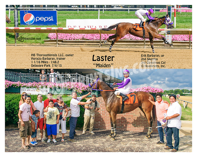 Laster winning at Delaware Park on 7/6/15
