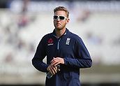 9th September 2017, Lords Cricket Ground, London, England; International test match series, third test, Day 3; England versus West Indies; England Bowler Stuart Broad during warm up