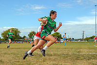 Manawatu v Poverty Bay women. 2017 Bayleys Central Regional Sevens at Playford Park in Levin, New Zealand on Saturday, 9 December 2017. Photo: Dave Lintott / lintottphoto.co.nz