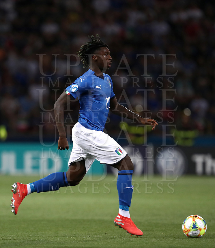 Football: Uefa under 21 Championship 2019, Italy -Poland, Renato Dall'Ara stadium Bologna Italy on June19, 2019.<br /> Italy's Moise Kean in action during the Uefa under 21 Championship 2019 football match between Italy and Poland at Renato Dall'Ara stadium in Bologna, Italy on June19, 2019.<br /> UPDATE IMAGES PRESS/Isabella Bonotto