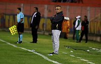 PASTO - COLOMBIA, 21-07-2018: Jorge Luis Bernal, técnico de Rionegro Águilas Doradas, durante partido entre Deportivo Pasto y Rionegro Águilas Doradas, de la fecha 1 por la Liga Águila II 2018, jugado en el estadio Departamental Libertad de la ciudad de Pasto.  / Jorge Luis Bernal, coach of Boyaca Chico F.C., during a match between Deportivo Pasto and Rionegro Aguilas Doradas, of the 1st date for the Liga Aguila II 2018 at the Departamental Libertad stadium in Pasto city. Photo: VizzorImage. / Leonardo Castro / Cont.