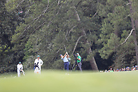 Brooks Koepka (USA) on the 18th fairway during the final round at the The Masters , Augusta National, Augusta, Georgia, USA. 14/04/2019.<br /> Picture Fran Caffrey / Golffile.ie<br /> <br /> All photo usage must carry mandatory copyright credit (© Golffile | Fran Caffrey)
