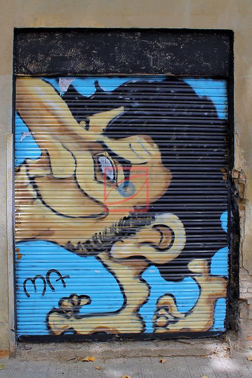 Street Art-Graffittis.<br /> Barcelona, carrer Espronceda, Poblenou.