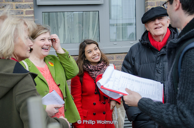 General election 2015: Tulip Siddiq, Labour candidate for Hampstead & Kilburn, the second most marginal seat in the UK, canvasses voters in Swiss Cottage.