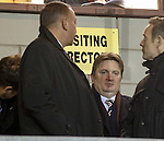 Rangers director Sandy Easdale watching on