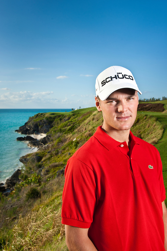 Golfer Matrin Kaymer photographed on the 16th tee in at Port Royal GC in Bermuda
