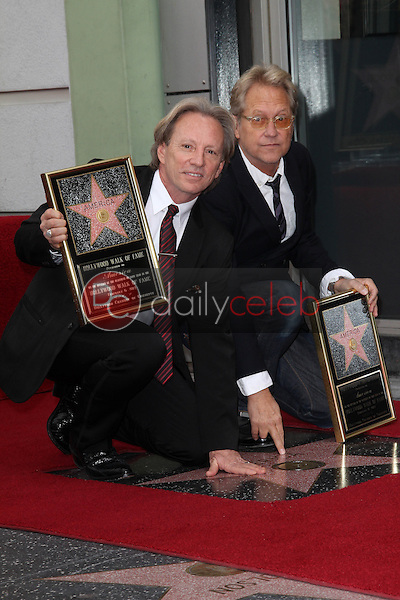 Dewey Bunnell, Gerry Beckley<br /> at the America Star on the Walk of Fame Ceremony, Hollywood, CA 02-06-12<br /> David Edwards/DailyCeleb.com 818-249-4998