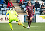 Queen of the South v St Johnstone&hellip;18.08.18&hellip;  Palmerston    BetFred Cup<br />Callum Hendry beats Alan Martin to make it 4-1<br />Picture by Graeme Hart. <br />Copyright Perthshire Picture Agency<br />Tel: 01738 623350  Mobile: 07990 594431