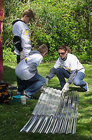 Mary Ericson with sons Kyle and Nicholas - Wellpoint Community Service Day | New Haven CT