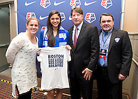 Cat Whitehill, Kim DeCesare, Tom Durkin. The NWSL draft was held at the Pennsylvania Convention Center in Philadelphia, PA, on January 17, 2014.