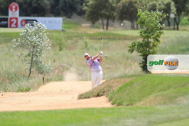 Damien McGrane (IRL) on the 2nd fairway during Round 2 of the Open de Espana  in Club de Golf el Prat, Barcelona on Friday 15th May 2015.<br /> Picture:  Thos Caffrey / www.golffile.ie