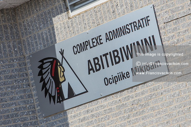 Administrative building is pictured in the Indian reserve of Pikogan, home of the Abitibiwinni First Nation, near Amos, Canada Wednesday August 24, 2016.