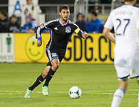 SANTA CLARA, CA - April 6, 2013: San Jose forward Chris Wondolowski (8) during the San Jose Earthquakes vs Vancouver Whitecaps FC game at Buck Shaw Stadium in Carson, California. Final score San Jose Earthquakes 1, Vancouver Whitecaps FC 1.