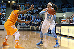 11 November 2013: North Carolina's Jessica Washington (24) and Tennessee's Ariel Massengale (left). The University of North Carolina Tar Heels played the University of Tennessee Lady Vols in an NCAA Division I women's basketball game at Carmichael Arena in Chapel Hill, North Carolina. Tennessee won the game 81-65.