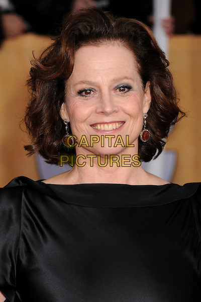 Sigourney Weaver.Arrivals at the 19th Annual Screen Actors Guild Awards at the Shrine Auditorium in Los Angeles, California, USA..27th January 2013.SAG SAGs headshot portrait black silk satin  .CAP/ADM/BP.©Byron Purvis/AdMedia/Capital Pictures