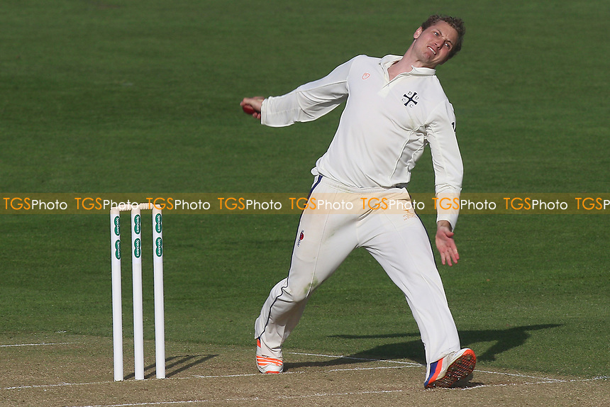 Frederic Simons in bowling action for Durham during Essex CCC vs Durham MCCU, English MCC University Match Cricket at The Cloudfm County Ground on 2nd April 2017