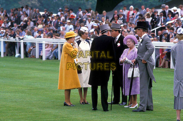QUEEN ELIZABETH II, PRINCESS ANNE, THE QUEEN MOTHER.royalty, horse race, sport.Ref: PL.www.capitalpictures.com.sales@capitalpictures.com.© Capital Pictures