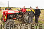 Feilim and Philip Cotter and John McCarthy at the ploughing in Causeway on Sunday