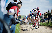 This is the very last race for veteran rider Yaroslav Popovych (UKR/Trek-Segafredo) as he wil retire after he finishes this race (which he won as an emporia) to become a DS at Team Trek-Segafredo.<br /> <br /> 114th Paris-Roubaix 2016