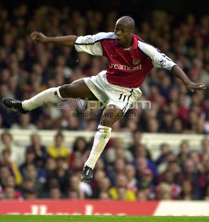 Pix: Dave Winter/SWpix.com. Soccer. FA Barclaycard Premiership. Arsenal v Blackburn Rovers. 12/02/2002...COPYWRIGHT PICTURE>>SIMON WILKINSON>>01943 436649>>..Arsenal's Sylvain Wiltord.