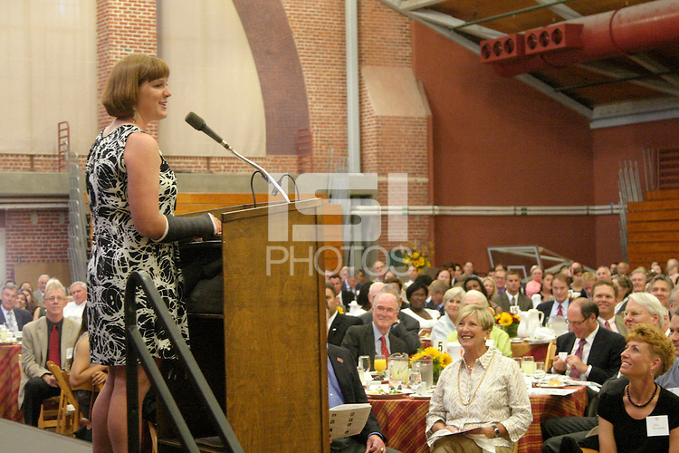 STANFORD, CA - JUNE 11:  Student-athletes are honored at the Athletic Board Awards Luncheon at Burnham Pavilion in Stanford, California. Pictured is Andrea Axtell.