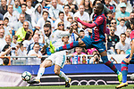 Daniel Carvajal Ramos (L) of Real Madrid fights for the ball with Jefferson Lerma (R) of Levante UD during the La Liga match between Real Madrid and Levante UD at the Estadio Santiago Bernabeu on 09 September 2017 in Madrid, Spain. Photo by Diego Gonzalez / Power Sport Images