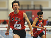 Kenneth Wei of Mount Sinai reacts after winning the 55 meter hurdles final during the Suffolk County varsity boys track and field small schools championship at Suffolk Community College Grant Campus in Brentwood on Friday, Feb. 2, 2018. He finished with a time of 7.61.