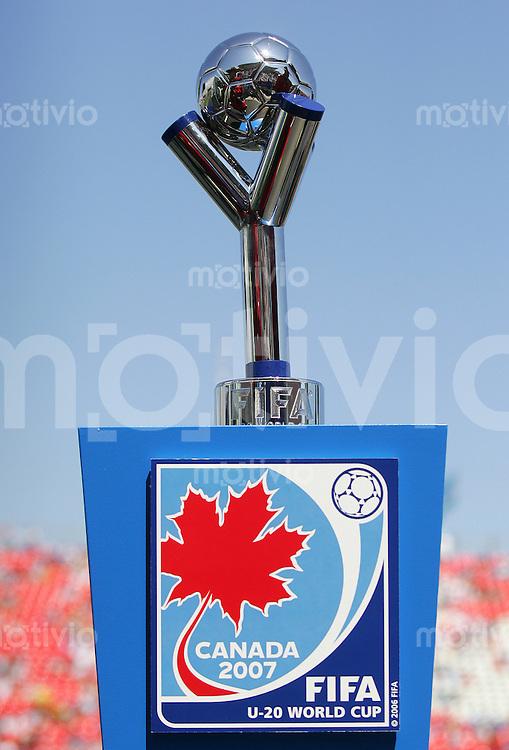 Fussball International U 20 WM  Tschechien vs Argentinien Der Pokal.