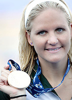 Zimbabwe's Kirsty Coventry shows the gold medal after the Women's 200m Backstroke final at the Swimming World Championships in Rome, 1 August 2009..UPDATE IMAGES PRESS/Riccardo De Luca