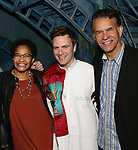 Allyson Tucker, Manoel Felciano and Brian Stokes Mitchell during the Actors' Equity Broadway Opening Night Gypsy Robe Ceremony honoring Manoel Felciano for 'Amelie' at the Walter Kerr Theatre on April 3, 2017 in New York City