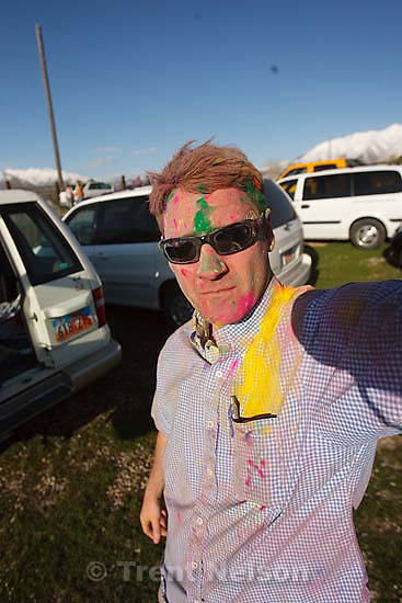 Spanish Fork - Spring was welcomed at the Hare Krishna Temple during Holi, The Festival of Colors Saturday March 28, 2009. Thousands gathered to throw colored powder into the air, signifying the joy and colors of spring arriving. trent nelson