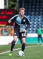 Jason McCarthy of Wycombe Wanderers in action during the Sky Bet League 2 match between Wycombe Wanderers and Barnet at Adams Park, High Wycombe, England on 16 April 2016. Photo by Andy Rowland.