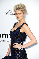 Kate Upton wore a black and blue basket weave Louis Vuitton dress and Louis Vuitton jewelry while attending the 2012 amfAR Cinema Against AIDS Gala at Hotel du Cap-Eden-Roc in Antibes, France on 24.5.2012. Credit: Timm/face to face / Mediapunchinc / Mediapunchinc