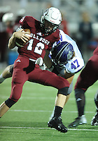 NWA Democrat-Gazette/ANDY SHUPE<br /> of Fayetteville of Springdale Friday, Oct. 9, 2015, during the first half of play at Jarrell Williams Bulldog Stadium in Springdale. Visit nwadg.com/photos to see more photographs from the game.