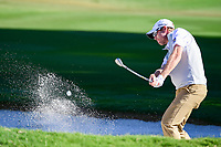 David Hearn (CAN) hits from the trap on 14 during the round 1 of the Dean &amp; Deluca Invitational, at The Colonial, Ft. Worth, Texas, USA. 5/25/2017.<br /> Picture: Golffile | Ken Murray<br /> <br /> <br /> All photo usage must carry mandatory copyright credit (&copy; Golffile | Ken Murray)