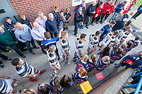 Picture by Allan McKenzie/SWpix.com - 10/05/2018 - Rugby League - Ladbrokes Challenge Cup - Featherstone Rovers v Hull FC - LD Nutrition Stadium, Featherstone, England - Hull FC prepare to come out onto the field.