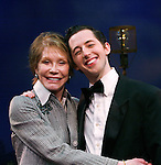"""***EXCLUSIVE COVERAGE*** Mary Tyler Moore visits the cast of """"Enter Laughing"""" at the York Theatre Company in New York City.<br />February 26, 2009<br />pictured: Mary Tyler Moore & Josh Grisetti"""