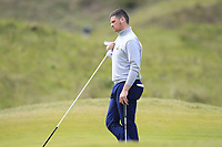 T.J. Ford (Co.Sligo) on the 4th green during Round 1 of the The Amateur Championship 2019 at The Island Golf Club, Co. Dublin on Monday 17th June 2019.<br /> Picture:  Thos Caffrey / Golffile<br /> <br /> All photo usage must carry mandatory copyright credit (© Golffile | Thos Caffrey)
