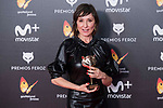 Nathalie Pozas receives the Best Actress Award during Feroz Awards 2018 at Magarinos Complex in Madrid, Spain. January 22, 2018. (ALTERPHOTOS/Borja B.Hojas)
