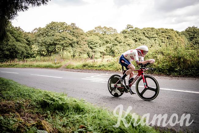 Alex Dowsett (GBR/Katusha-Alpecin)<br /> Elite Men Individual Time Trial<br /> from Northhallerton to Harrogate (54km)<br /> <br /> 2019 Road World Championships Yorkshire (GBR)<br /> <br /> ©kramon